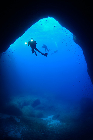Diver taking part in Malta underwater survey