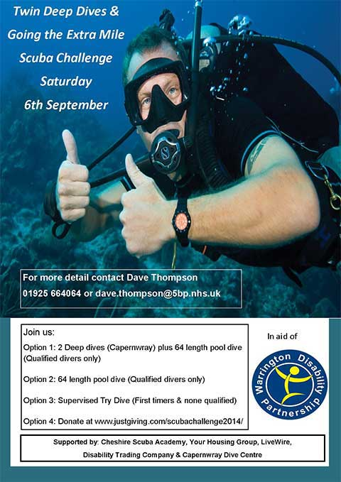 scuba challenge for disability day