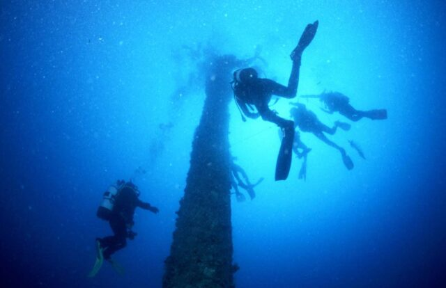 Diving on Shouna