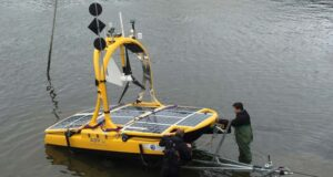 The Autonomous Surface Vehicle is being launched.