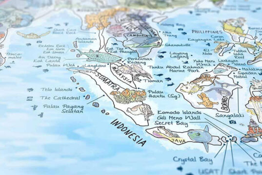 Illustrated Map of the Best Dive Sites in the World