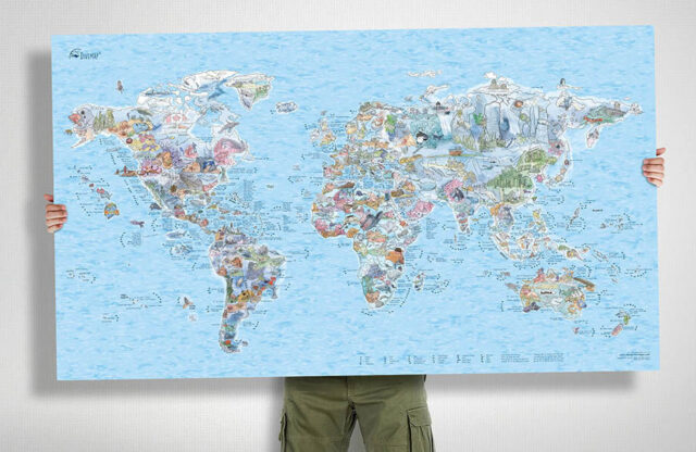 Win awesome wall map of best places to dive
