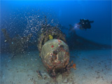 Diver finds British Vickers Wellington bomber in warplane graveyard off Sicily