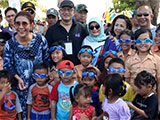 Indonesian children with their goggles