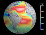 Map of ocean acidification