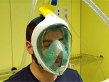 Scuba full face mask turned into a ventilator