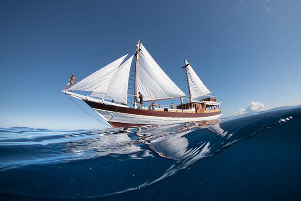 Traditional liveaboard in Indonesia