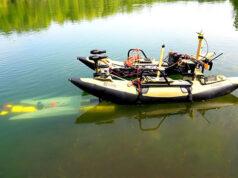 underwater robot test docking